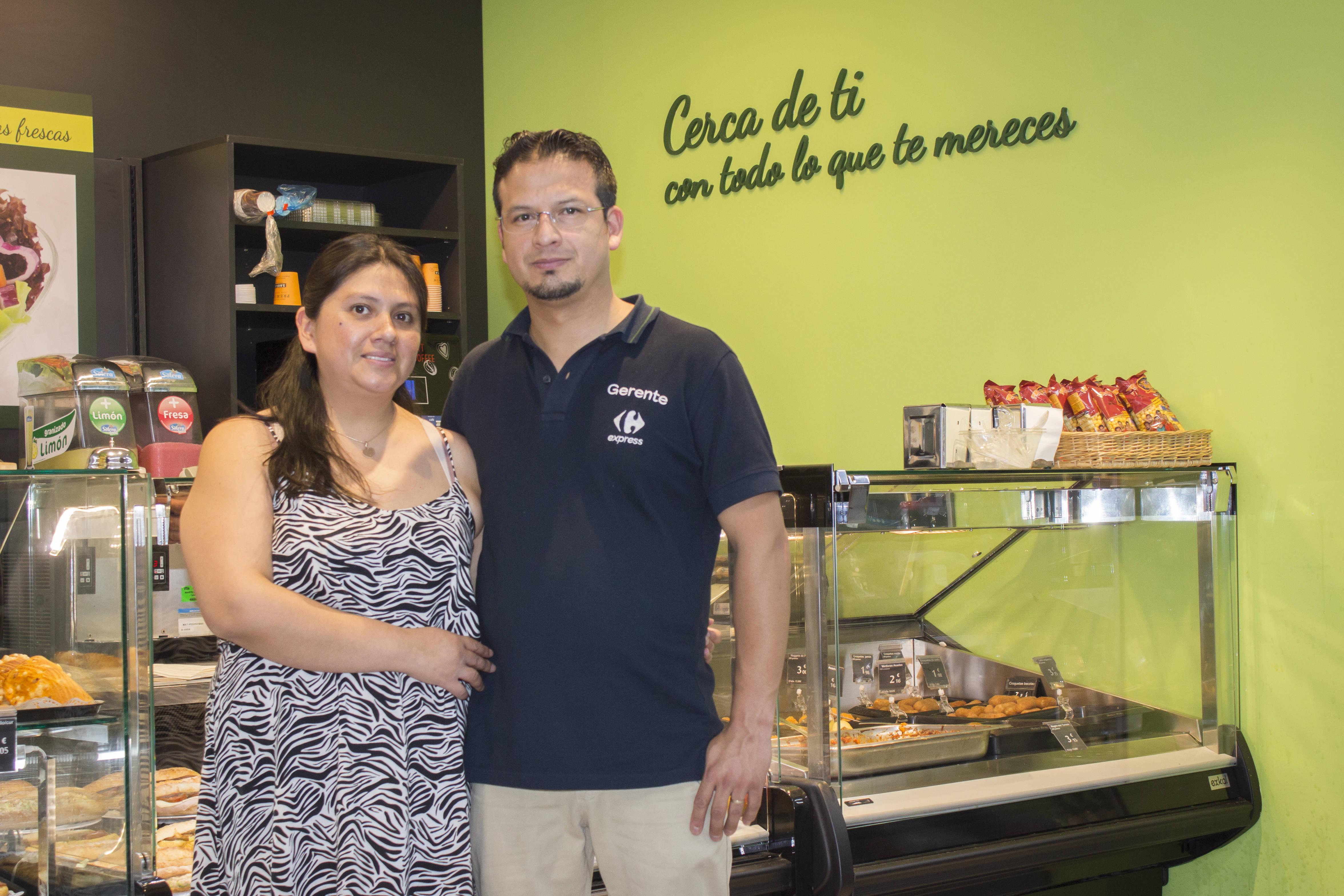 Karina Luzuriaga y Álvaro Jiménez invirtieron 50.000 euros en la adquisición de su primera franquicia.