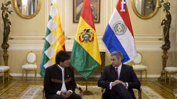 Evo Morales, presidente de Bolivia, y Mario Abdo Benítez, presidente de Paraguay.
