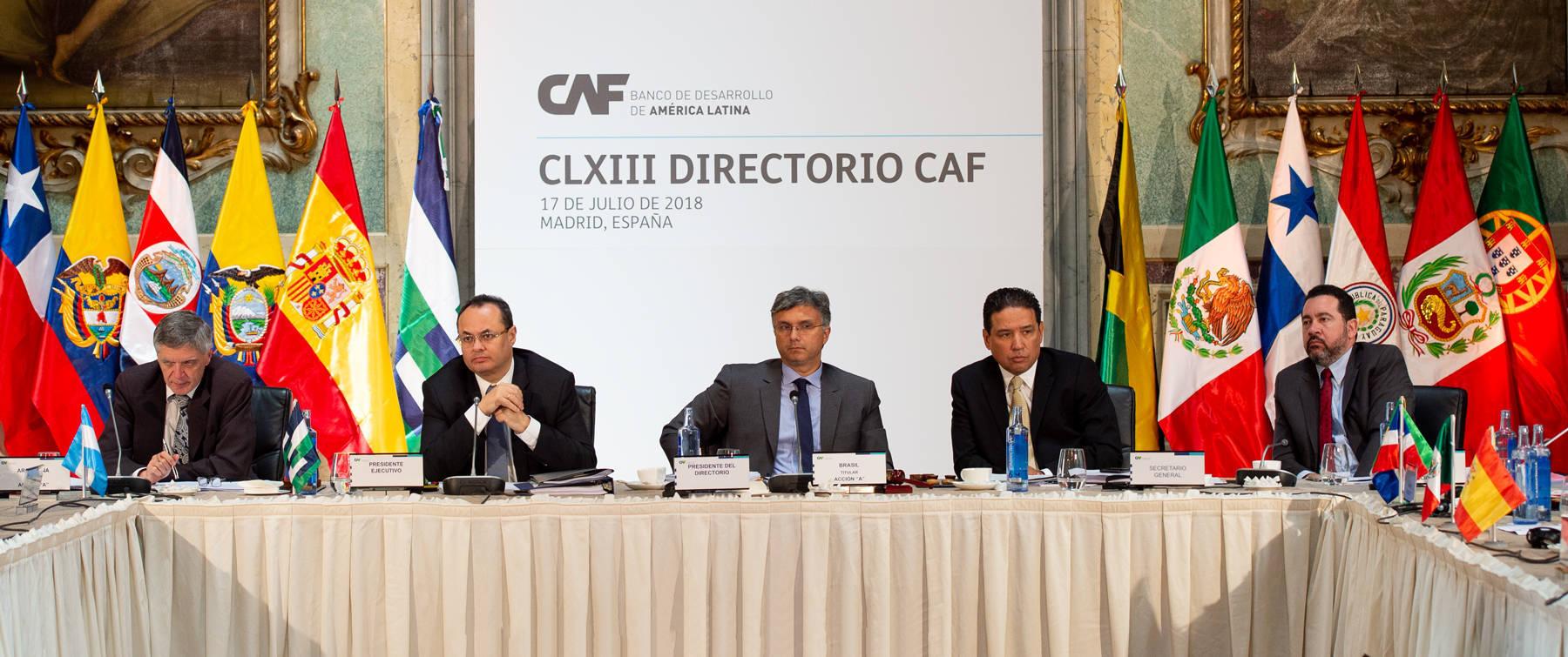 Celebración del CLXIII Directorio del Banco de Desarrollo de América Latina (CAF).