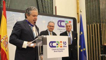 José Gasset, presidente de la Cámara de Comercio Brasil-España, ha sido galardonado con la Orden de Rio Branco.