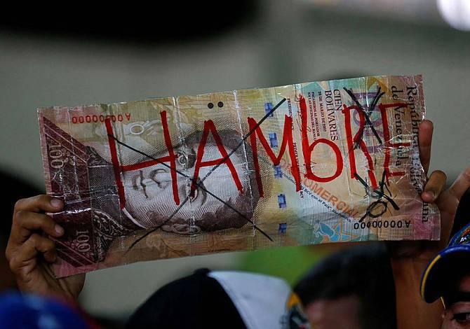 Venezuela tendría una tasa de inflación del 1.000.000 por ciento y una caída del PIB del 18 por ciento para finales de 2018, según las estimaciones del FMI.