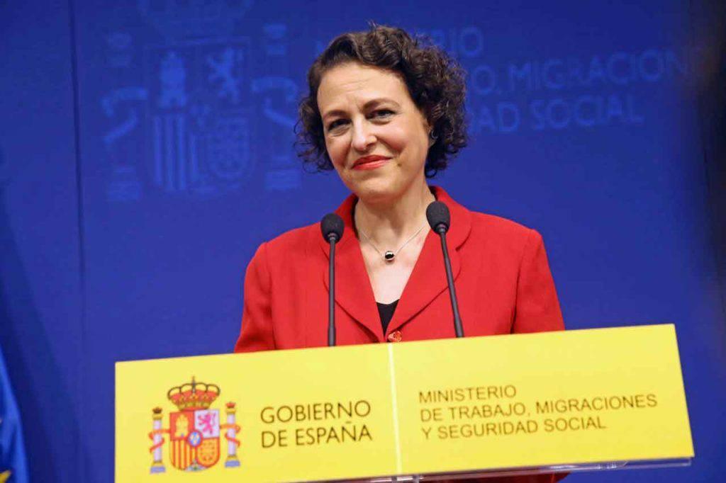 Magdalena Valerio, ministra de Trabajo, Migraciones y Seguridad Social de España.