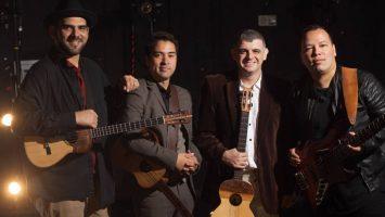 Jorge Glem, Edward Ramírez, Héctor Molina, y Rodner Padilla miembros de la agrupación venezolana C4 Trio.