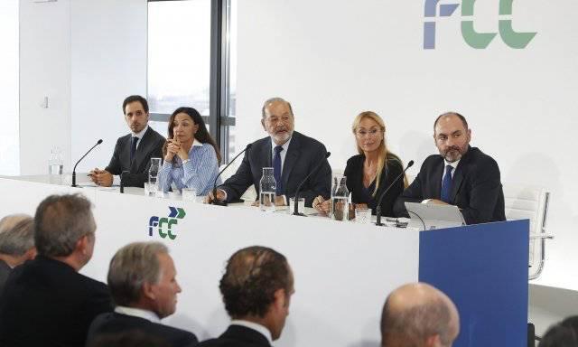 Carlos Slim durante su primera intervención pública sobre la multinacional española FCC.