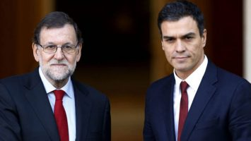 Mariano Rajoy, expresidente de España, y Pedro Sánchez, presidente de España.