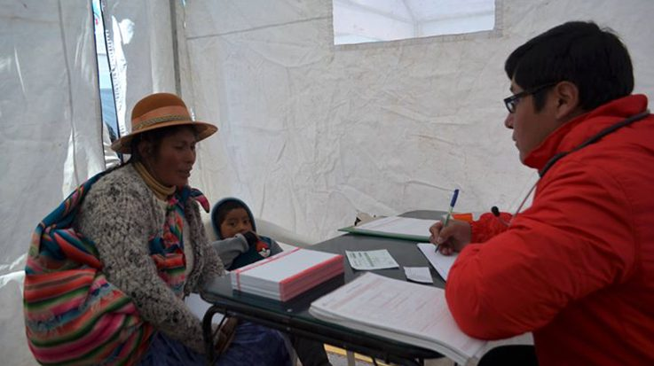 Pro Mujer ha organizado varias jornadas de salud en las zonas rurales de Juliaca y Puno en Perú.