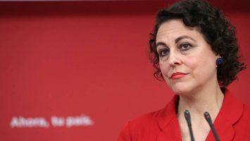 Magdalena Valerio, ministra de Trabajo, Migraciones y Seguridad Social, anuncia que recibirán a 1.149 inmigrantes de pateras.