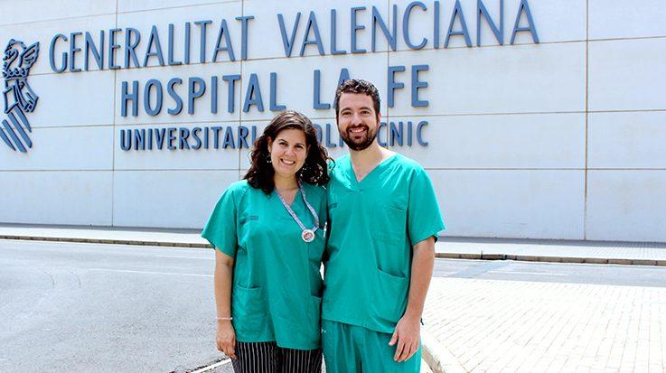 Sheila Vázquez y Manuel Duarte, residentes del tercer año de Obstetricia y Ginecología del Hospital Universitario y Politécnico de La Fe.