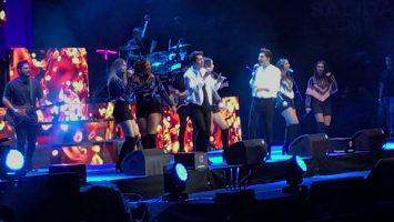 Artistas iberoamericanos cantan en el concierto solidario: #ViveDial en el WiZink Center de Madrid.