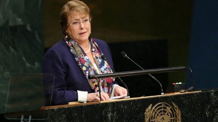 Michelle Bachelet, Alta Comisionada de la Organización de las Naciones Unidas para los Derechos Humanos.