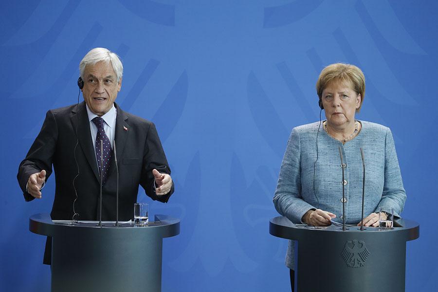 Merkel y Piñera apuestan por actualizar el acuerdo comercial entre Chile y la Unión Europea.