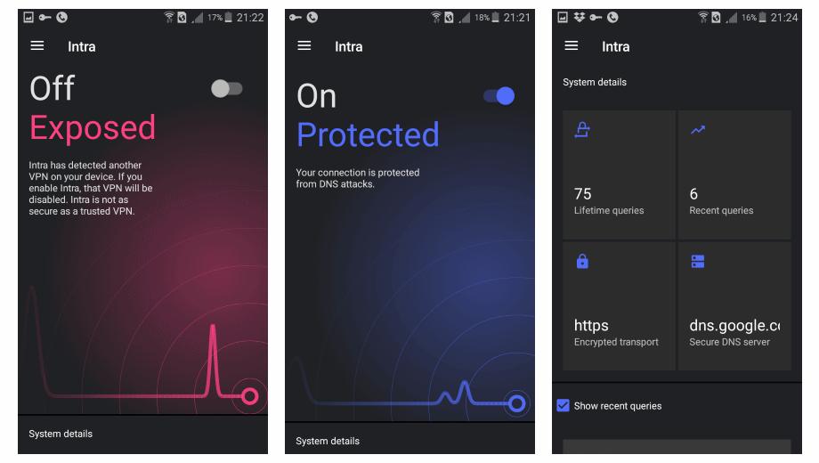 Intra solo es compatible con Android 4.0 en adelante  y Chromebooks.