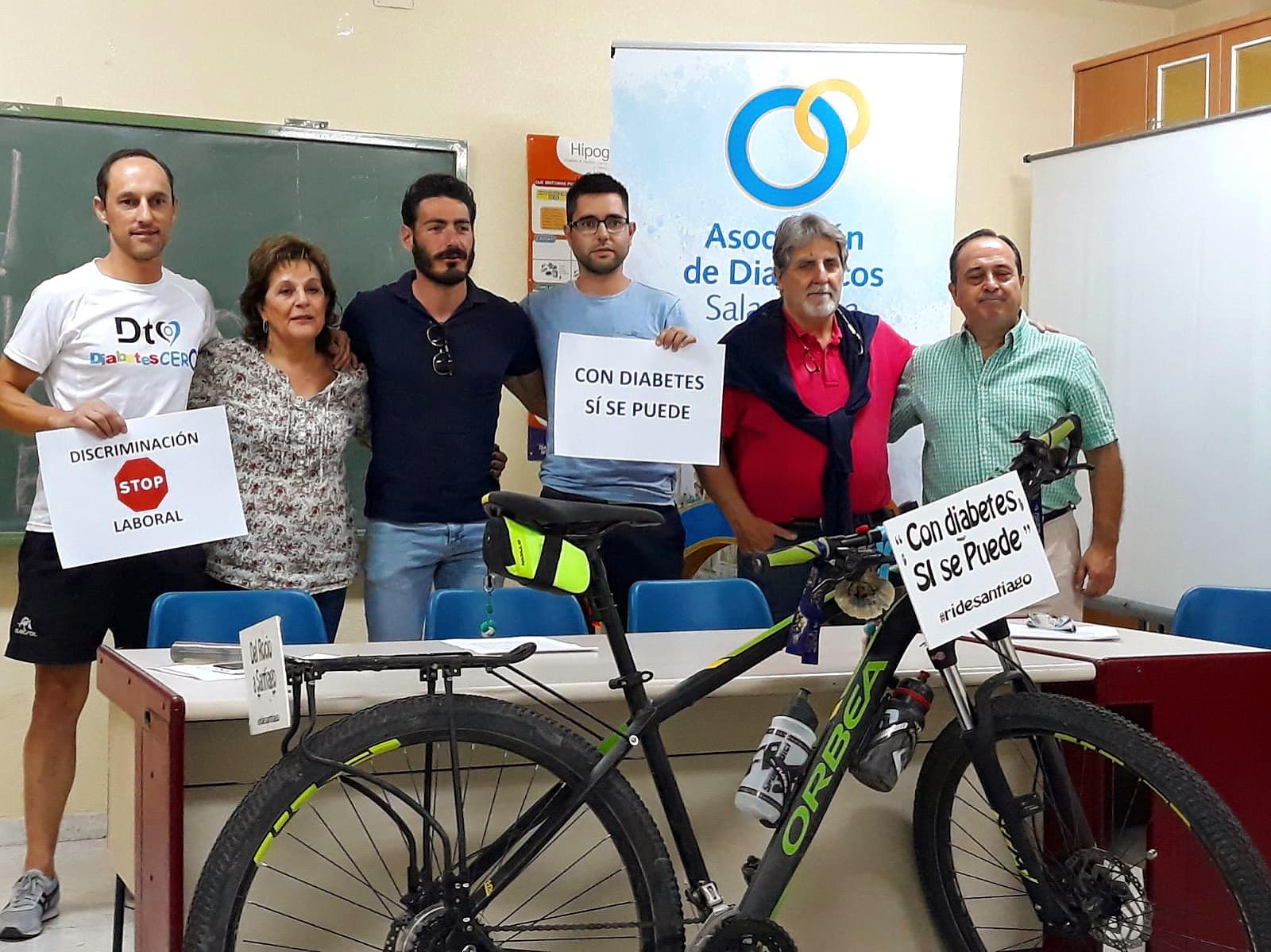 García ha realizado 1.200 kilómetros del Camino de Santiago para demostrar su capacidad física y desmitificar los efectos de su enfermedad.