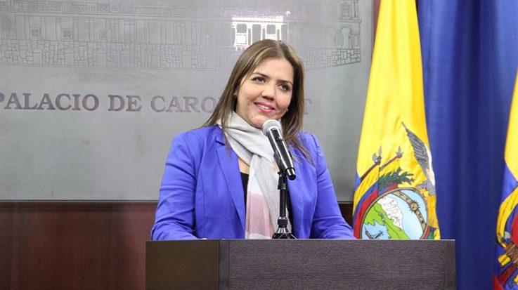 María Alejandra Vicuña, vicepresidenta de Ecuador.
