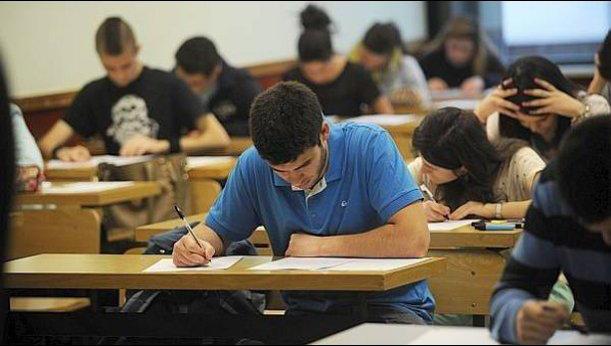 Aspirante durante el examen MIR.