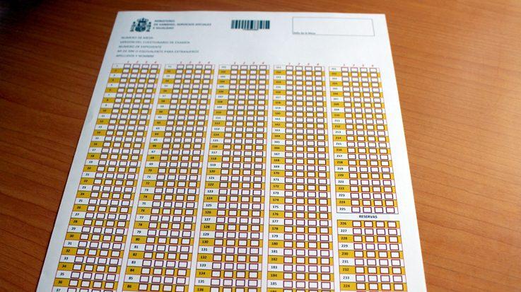 Examen del Ministerio de Sanidad