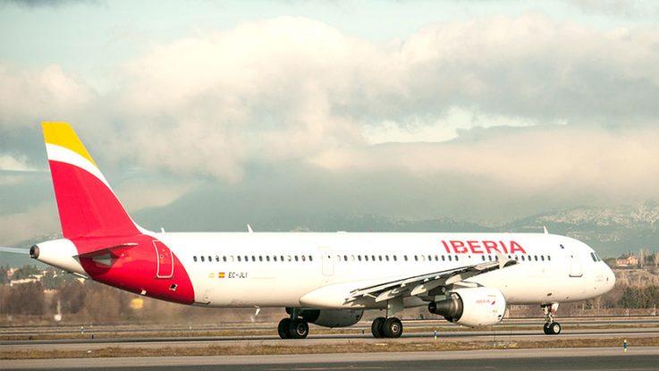 Avión aerolínea Iberia
