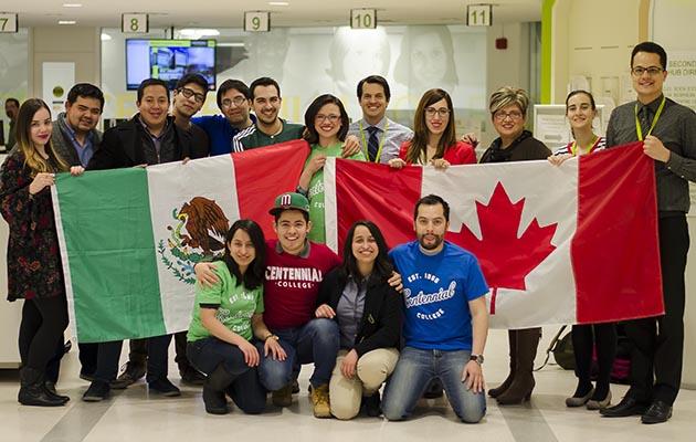 estudiantes en Canadá