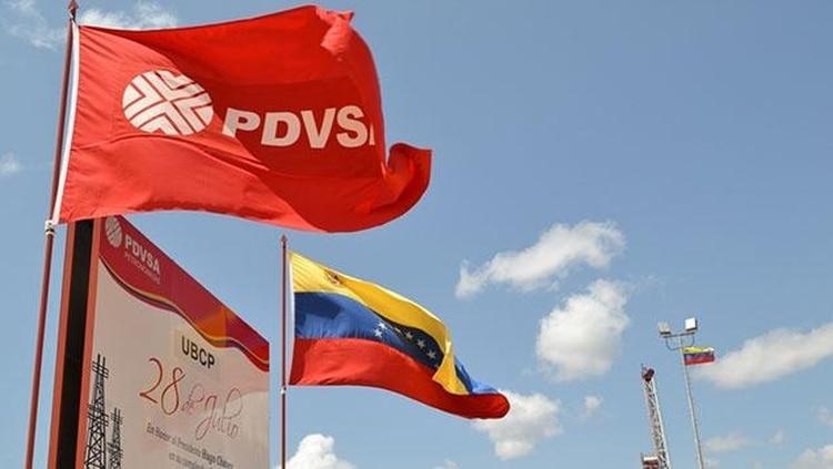 Banderas de PDVSA y Venezuela