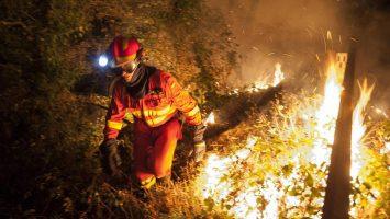 Incendio forestal en Guatemala