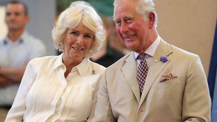 El príncipe Carlos de Inglaterra y su esposa