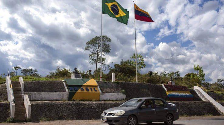 Banderas de Brasil y Venezuela