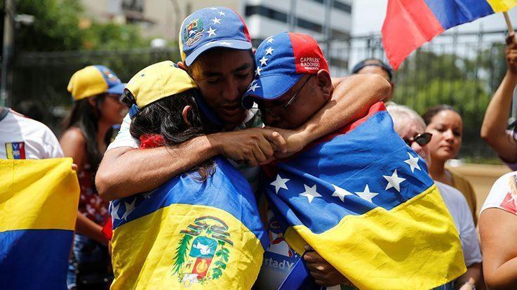 Miembros del éxodo venezolano