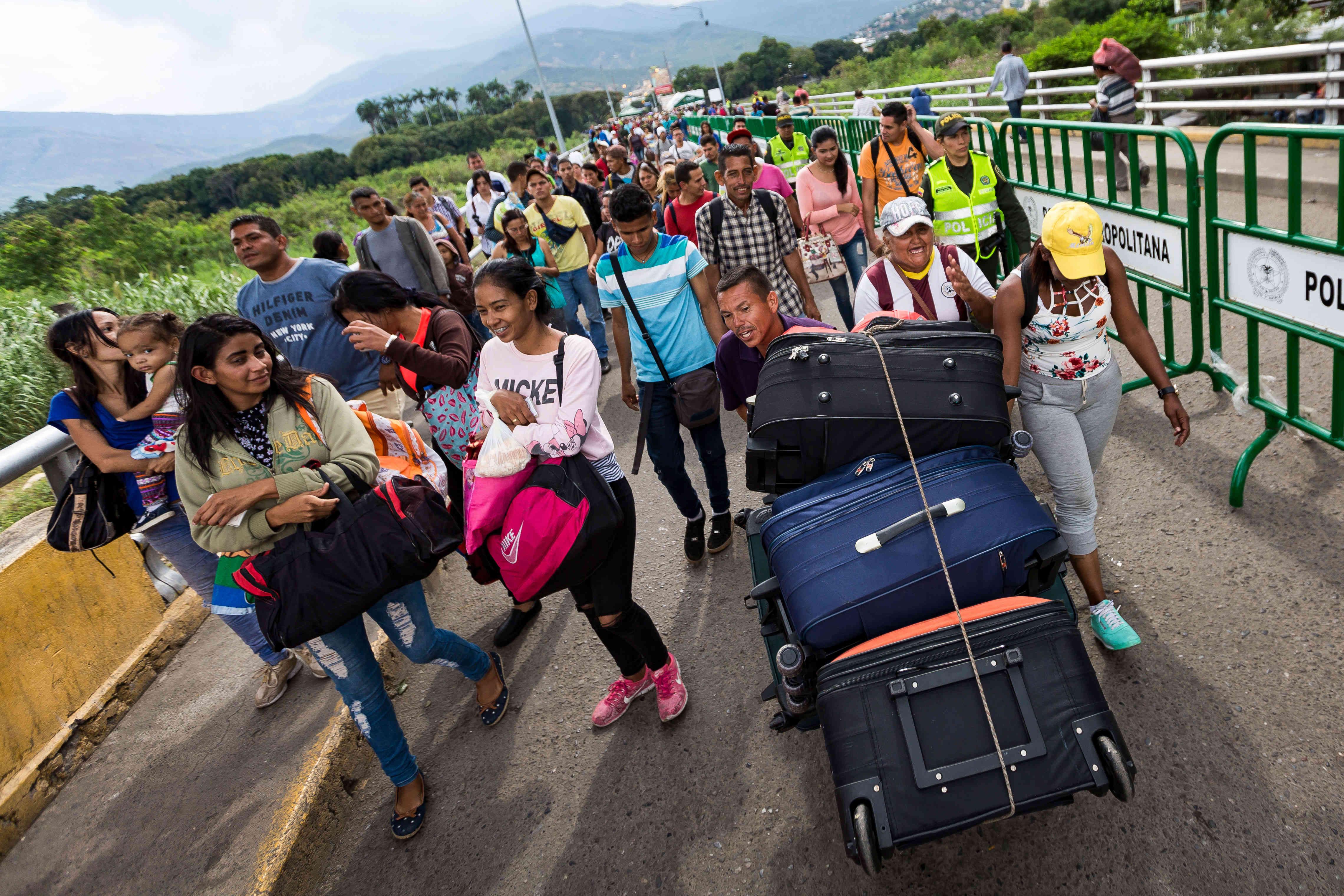 venezolanos exiliados