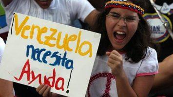 Pancarta Venezuela