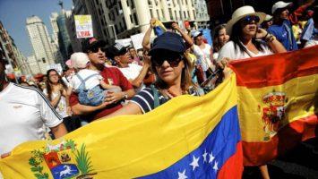 venezolanos concentrados en MAdrid