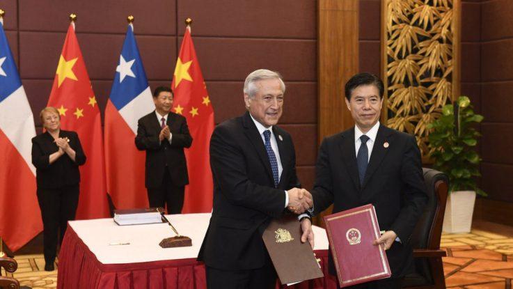 Presidentes de Chile y China