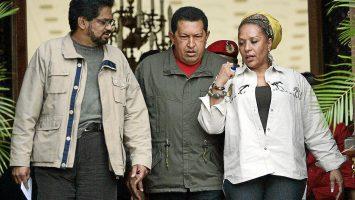 Hugo chavez, ivan marquez y piedad cordoba