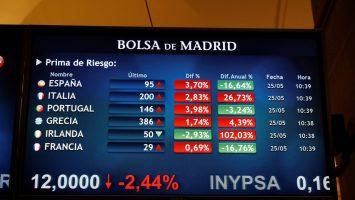 La prima de riesgo española