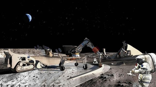 minería lunar