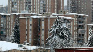 Nieve en cornisas y terrazas