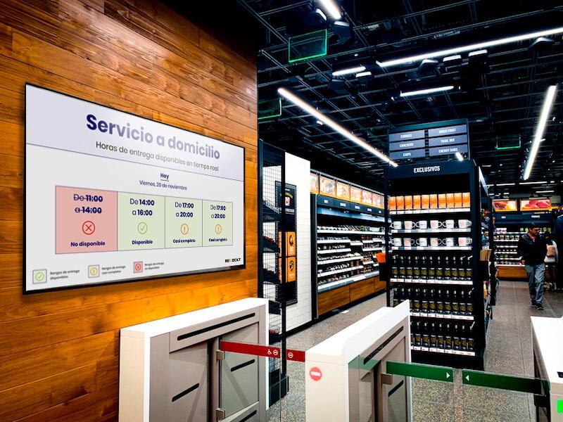 5 Pantalla informativa digital en un supermercado
