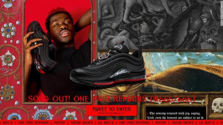 Nike demanda por los Satan Shoes