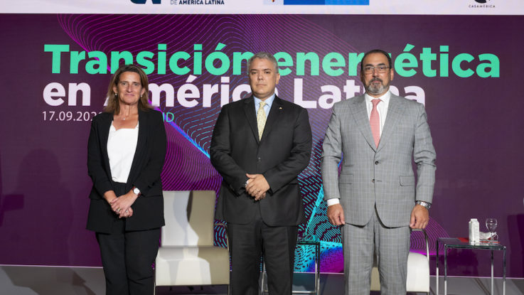 Teresa Ribera, Iván Duque y Sergio Díaz-Granados